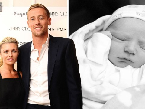 Abbey Clancy gives birth to a 'happy, healthy and beautiful' baby boy