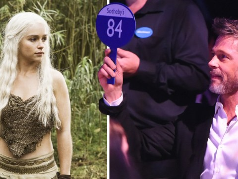 Brad Pitt put down $120,000 to watch Game of Thrones with Emilia Clarke and was still outbid