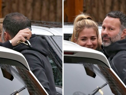 Gemma Atkinson and Ryan Giggs share a kiss at lunch as actress insists they're Strictly mates