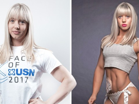 Woman with ileostomy bag becomes world champion fitness model and face of USN