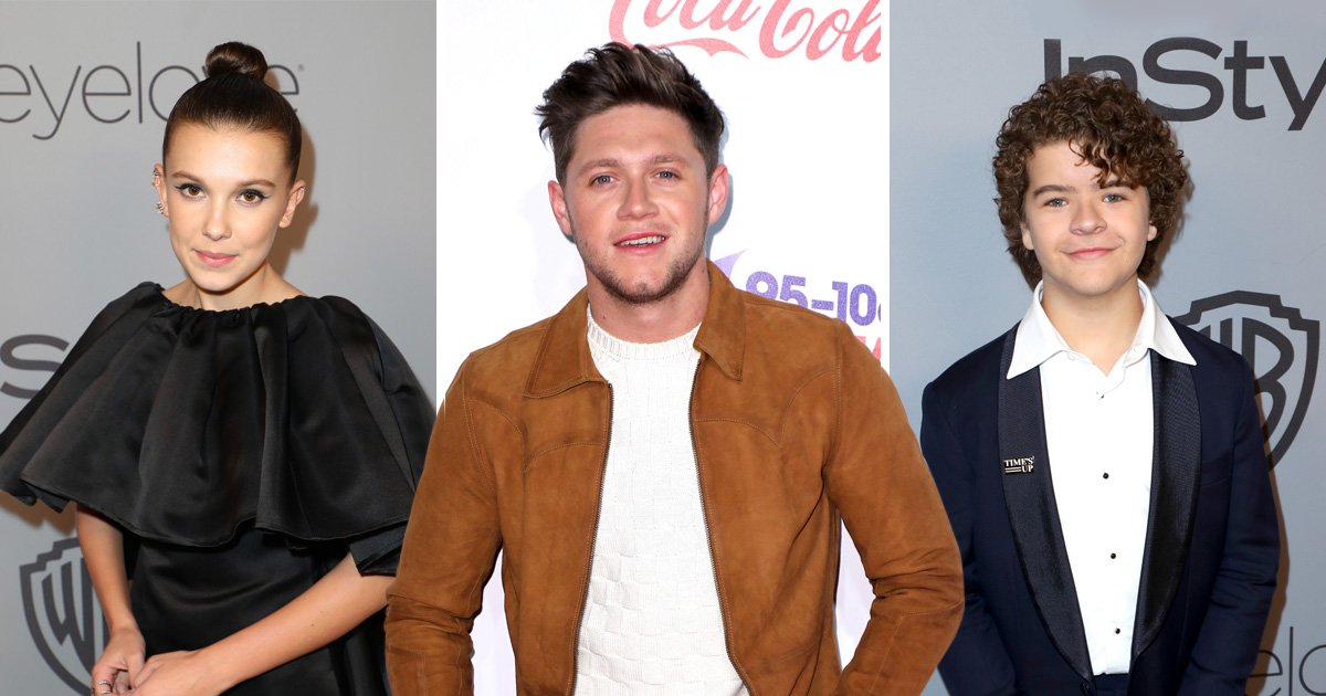Stranger Things stars Millie Bobby Brown and Gaten Matarazzo lose it over Niall Horan's tweet and it's so beautiful