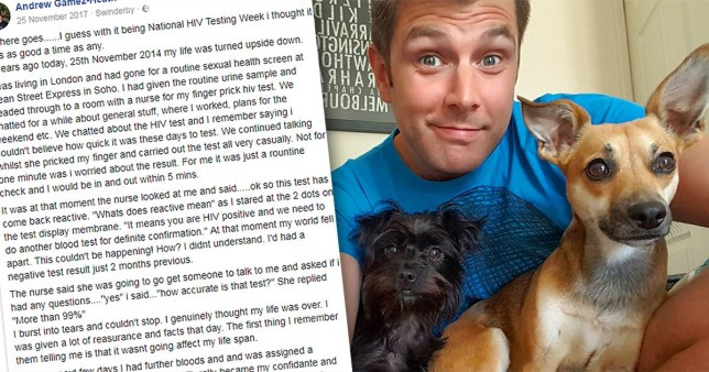 Courageous man reveals he is HIV positive via a FACEBOOK post in a bid to reduce stigma around the condition