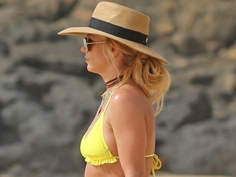Britney Spears' huge diamond ring sparks rumours she's engaged to boyfriend Sam Ashgari