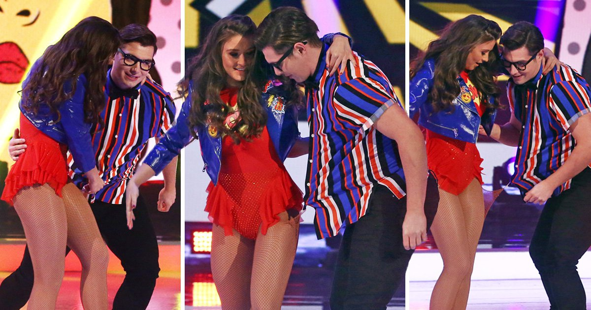 Brooke Vincent recovers from wardrobe malfunction as she gets caught on partner Matej in Dancing on Ice debut