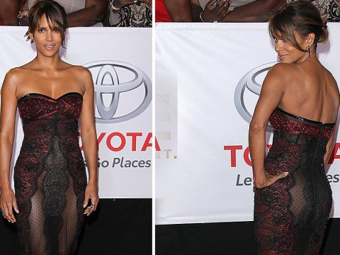 Halle Berry slays the NAACP Awards red carpet in daring see-through gown