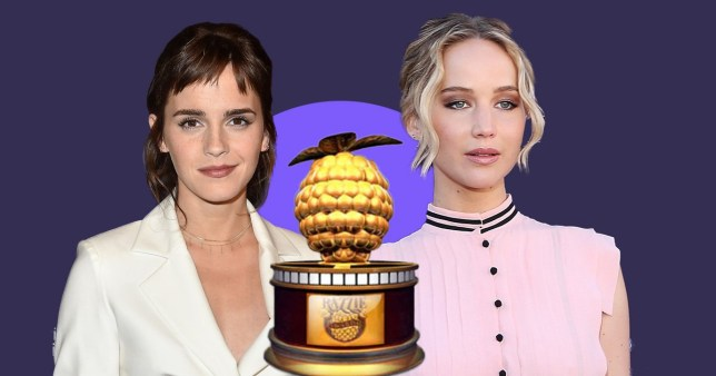 Emma Watson and Jennifer Lawrence Razzies nomination