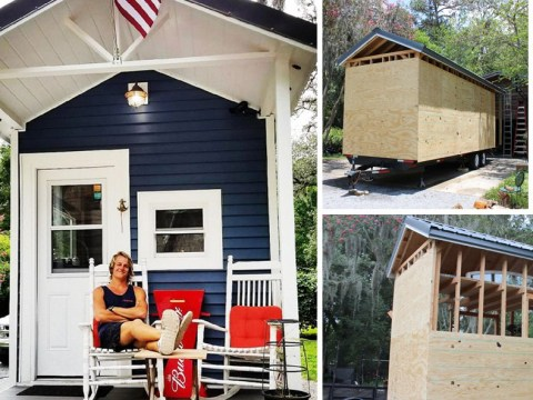 Man builds himself a tiny house so he can live rent-free
