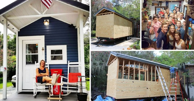 Man builds tiny house so he can live rent-fre