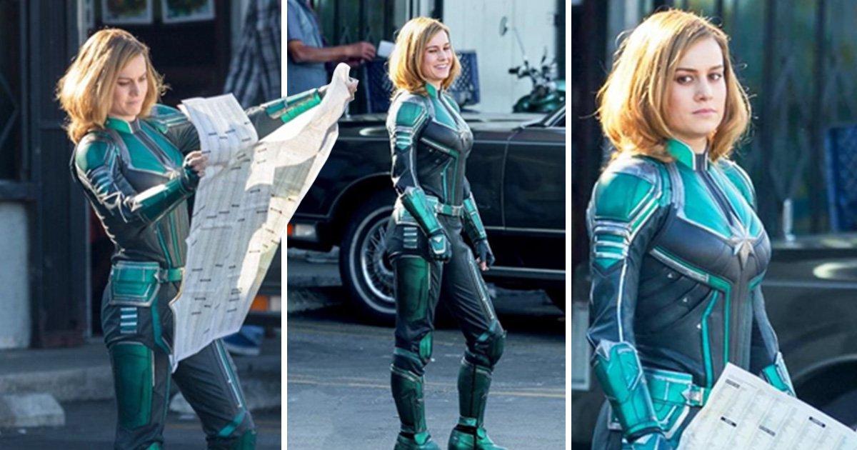 Brie Larson S Captain Marvel Costume Has Been Revealed Metro News Brie larson / captain marvel. brie larson s captain marvel costume