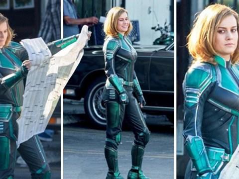 Brie Larson's Captain Marvel costume has been revealed