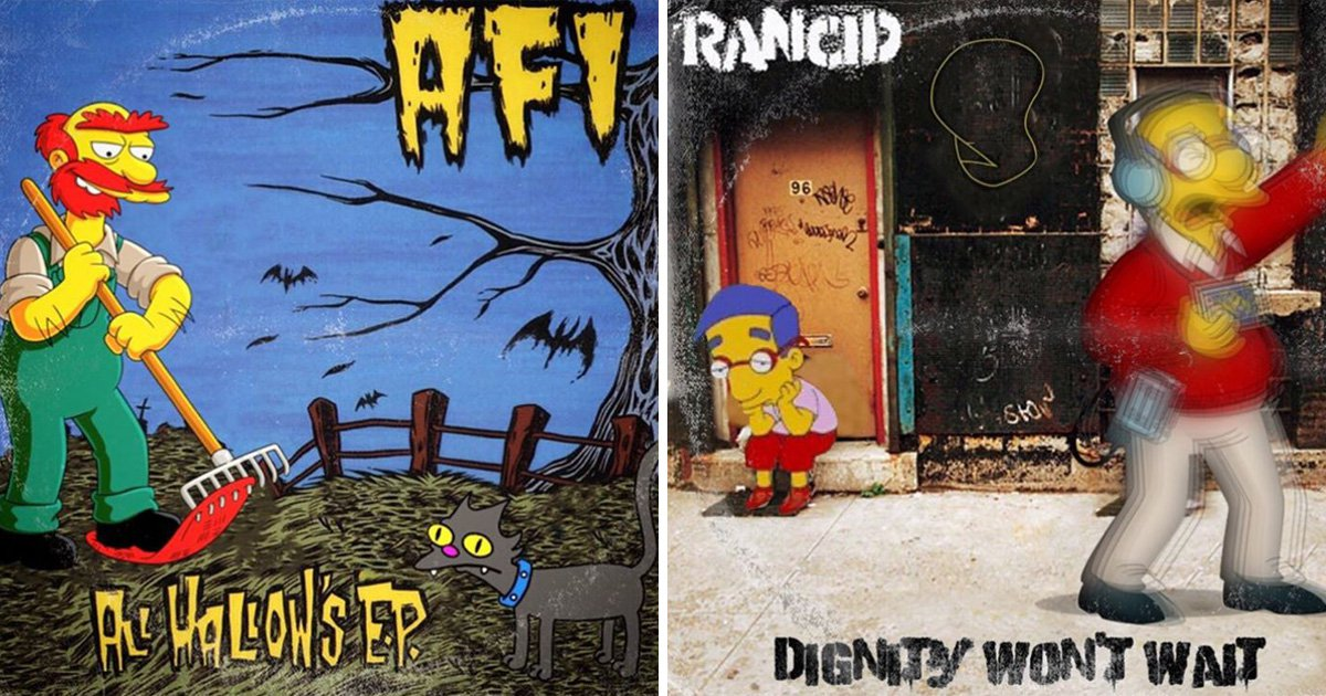 Someone has combined The Simpsons with iconic punk album covers