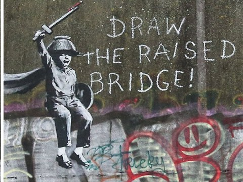 New Banksy anti-Brexit mural could be cleaned off bridge