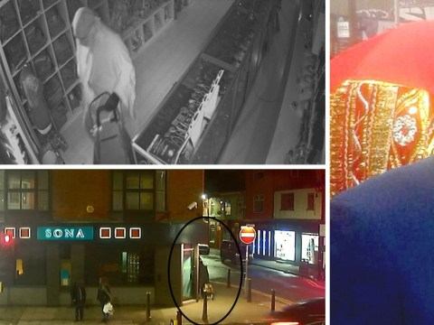Police hunt for suspect wearing burka seen on CCTV in murdered jeweller's shop
