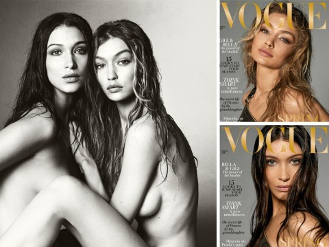 Sisters Gigi and Bella Hadid leave fans feeling 'uncomfortable' with joint naked photoshoot