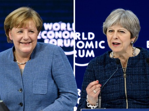 Angela Merkel 'pokes fun at Theresa May' as Britain and Germany's Brexit talks stutter