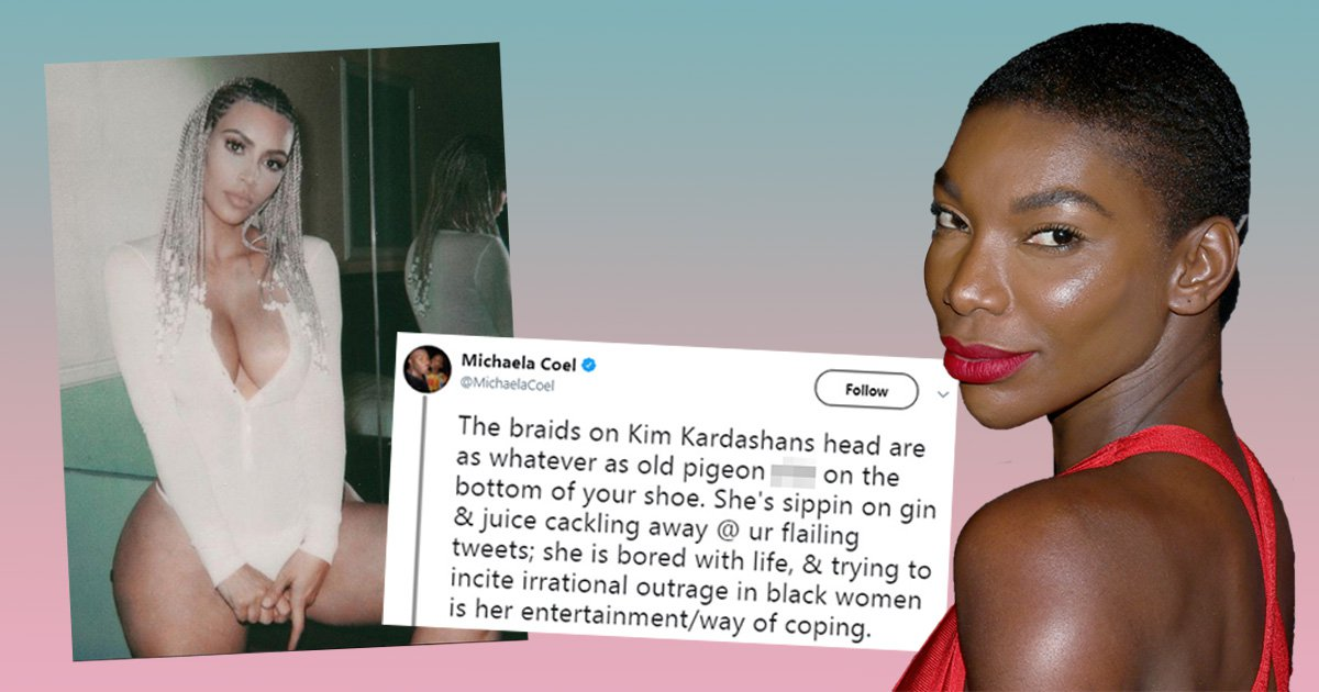 Black Mirror's Michael Coel rips into 'cringe' Kim Kardashian over controversial braids