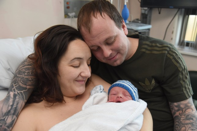 Woman who suffered eight miscarriages gave birth on New