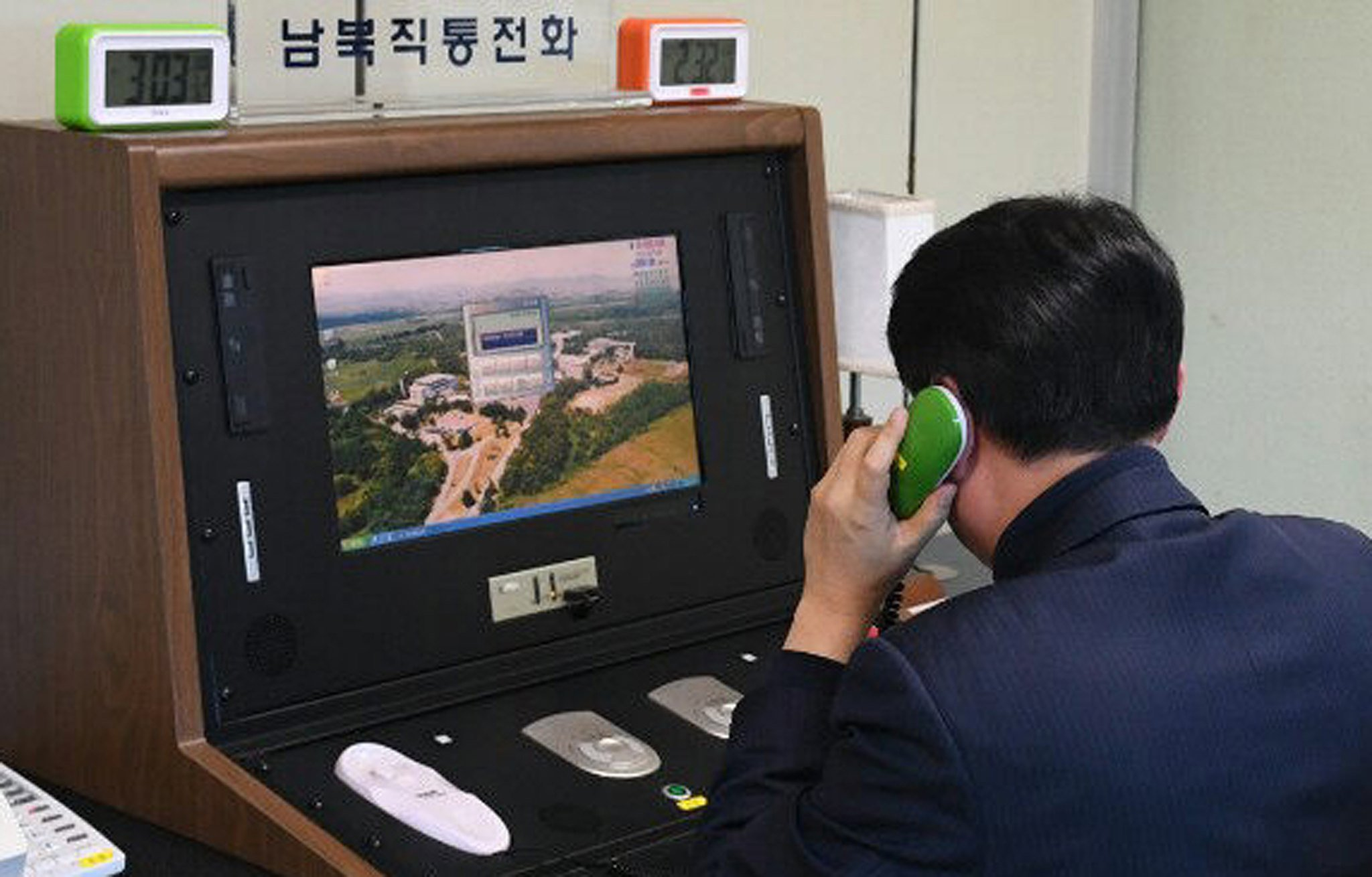 North Korea opens phone line to the south for the first time in two years
