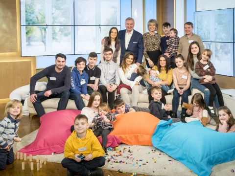 Parents and their 20 children appear live on This Morning – and viewers love 'brilliant, well-behaved' kids