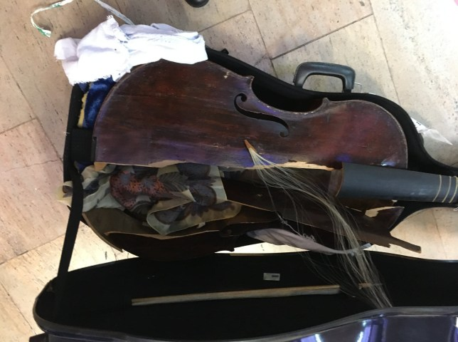 Cello destroyed