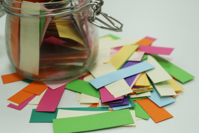 Make yourself a gratitude jar for your most positive year yet