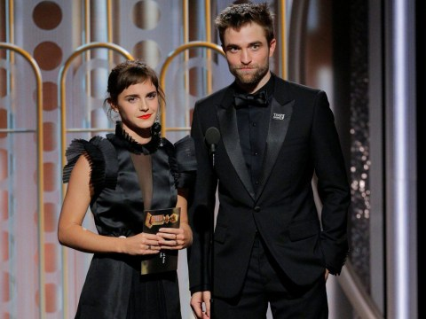 Robert Pattinson and Emma Watson made everyone's Harry Potter heart very happy at 2018 Golden Globes