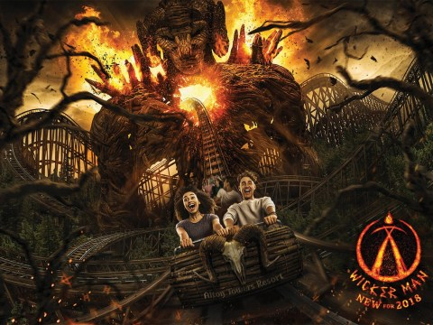 Alton Towers is opening a rollercoaster involving wood and fire