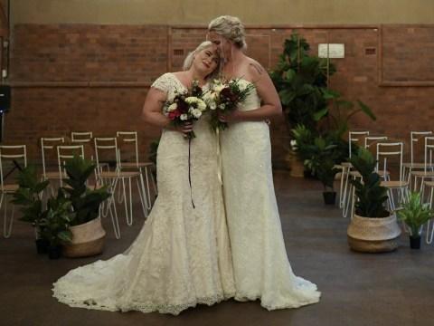 Beautiful midnight weddings see in Australian gay marriage law