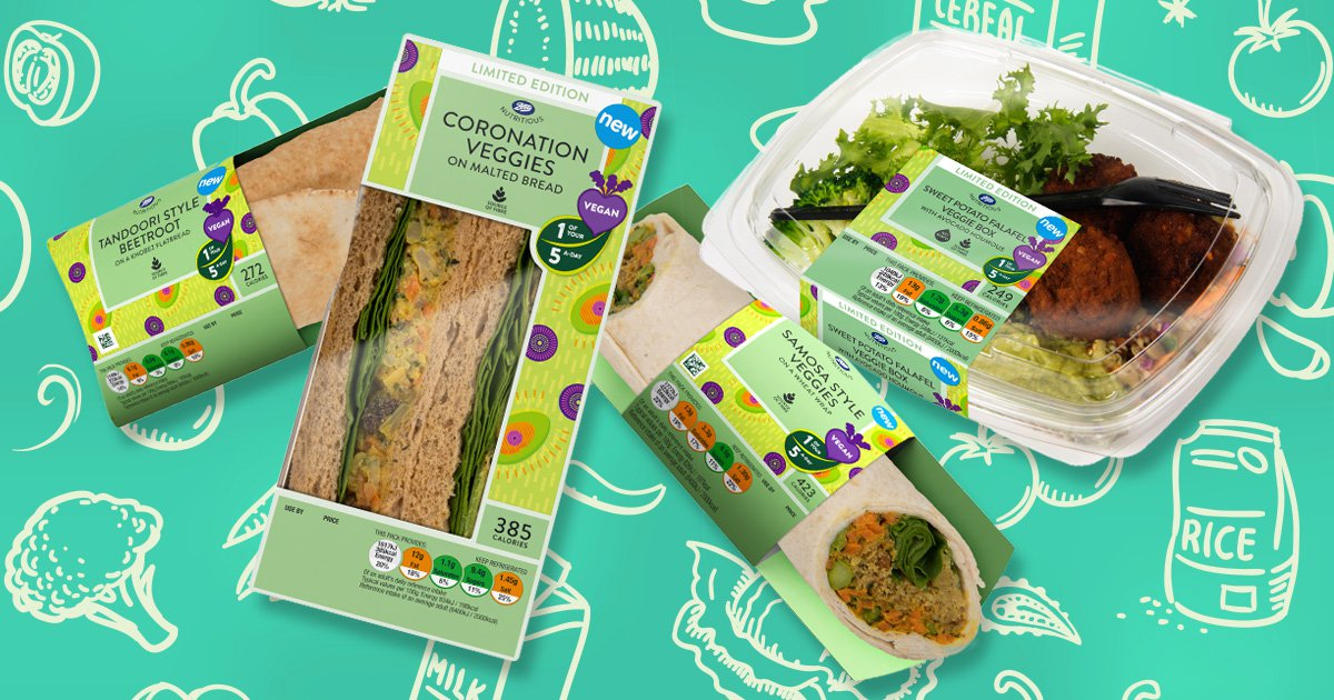 Boots launches brand new vegan lunch options and they look pretty tasty
