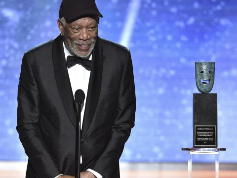 Morgan Freeman stopped from talking about Time's Up movement at SAG Awards