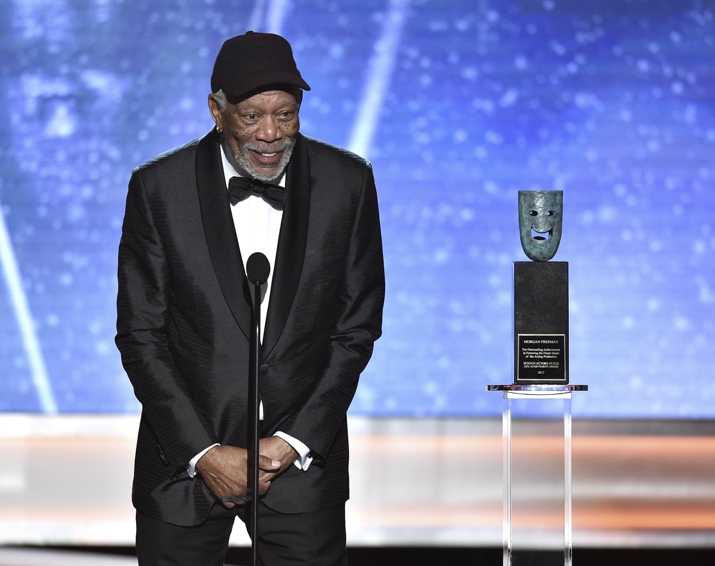 Morgan Freeman accepts SAG Life Achievement Award: 'This is beyond honour, this is a place in history'