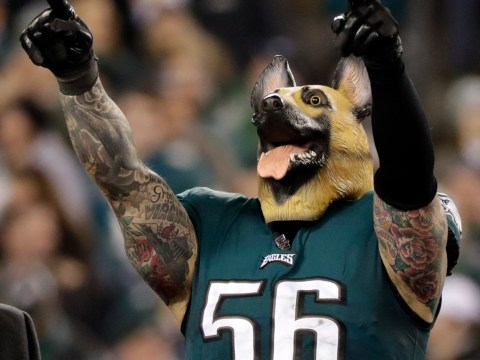 Why do Eagles players and fans wear dog masks?