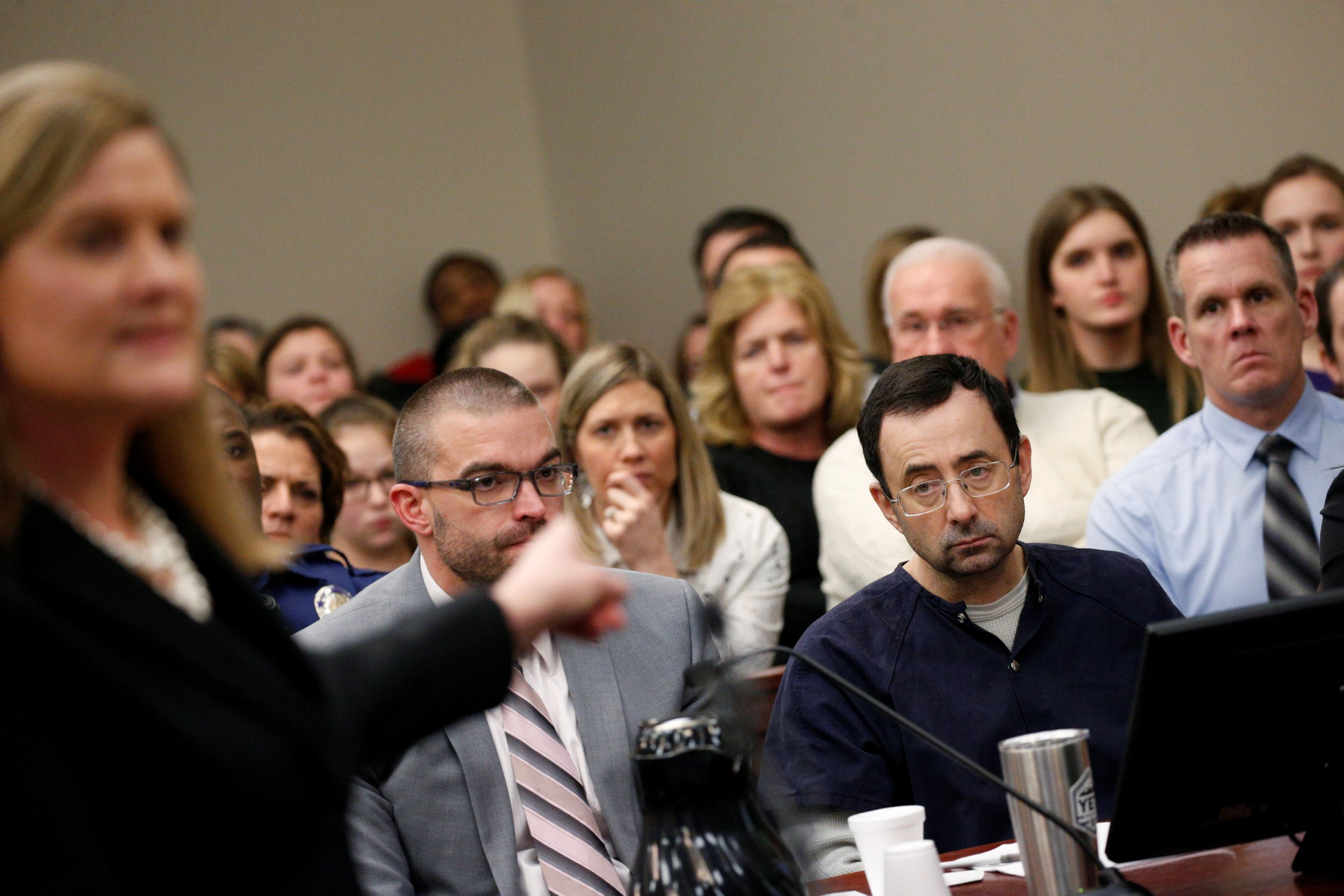 Courtroom erupts into laughter as Larry Nassar claims he's the one who's been 'manipulated'