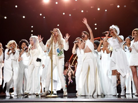 Kesha thanks her supporters after giving the performance of the night at the Grammys 2018