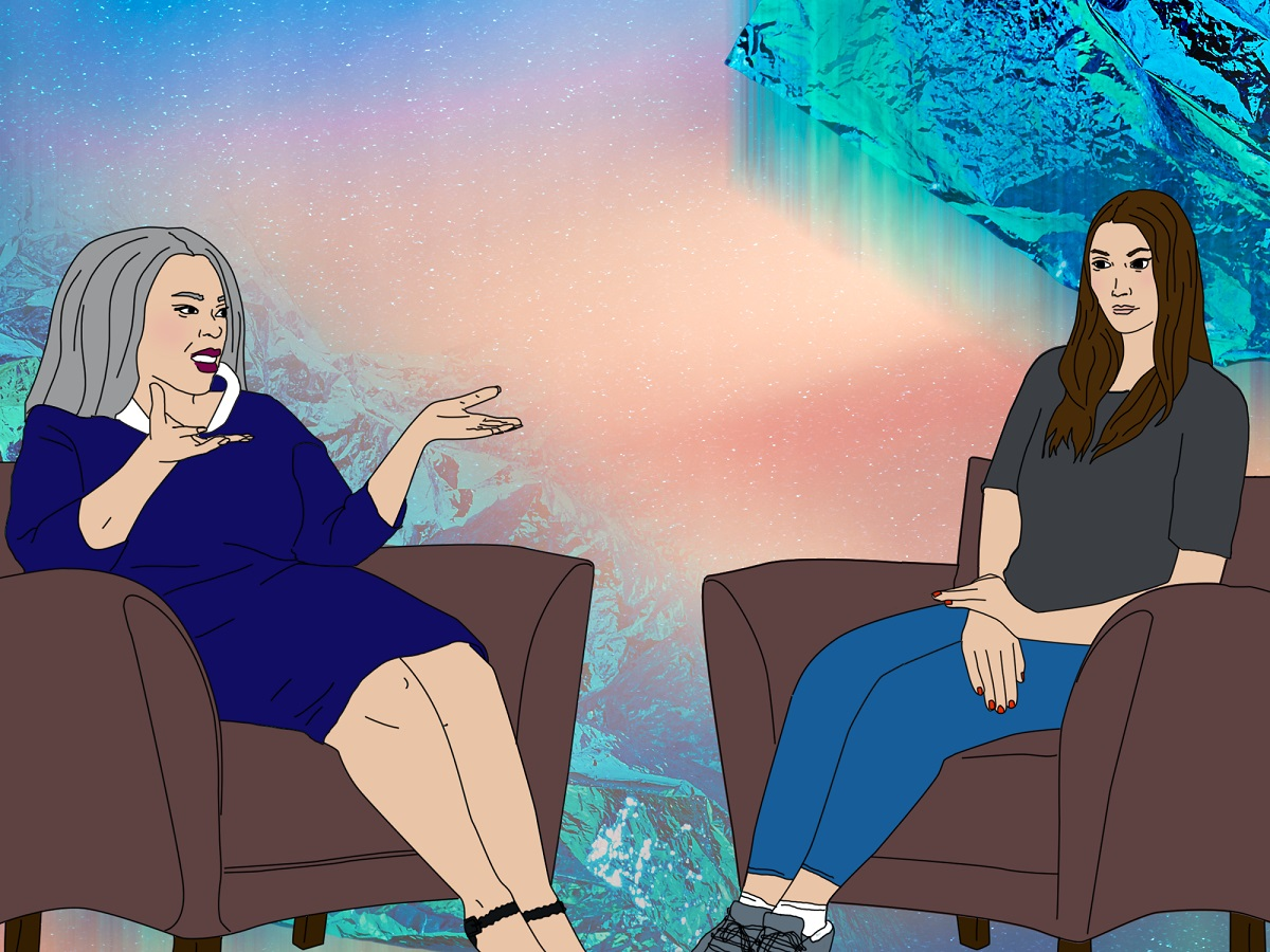 Illustration of woman in therapy session