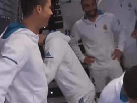 Cristiano Ronaldo trash talks Lionel Messi with Real Madrid mascots