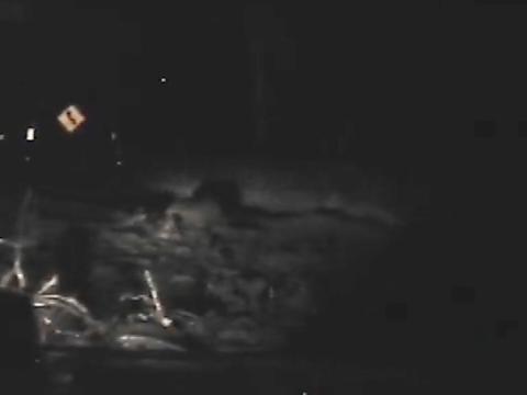 New dashcam video shows powerful Montecito mudflow drag away a police car