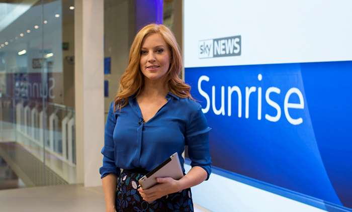 Where is Sarah-Jane Mee on Sky News Sunrise and when is she back?