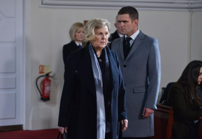 Cora and Jack say goodbye to Abi in EastEnders