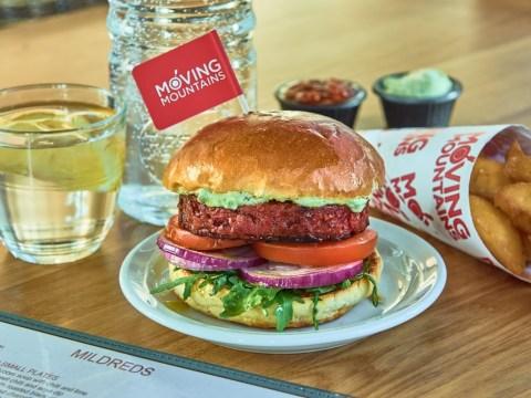 We tried the Moving Mountains 'bleeding' B12 vegan burger