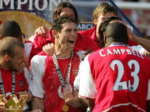 Tony Adams, David Seaman and Sol Campbell react to Arsene Wenger's departure at the end of the season