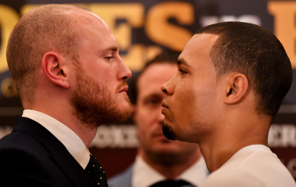 Chris Eubank Jr and George Groves face-off