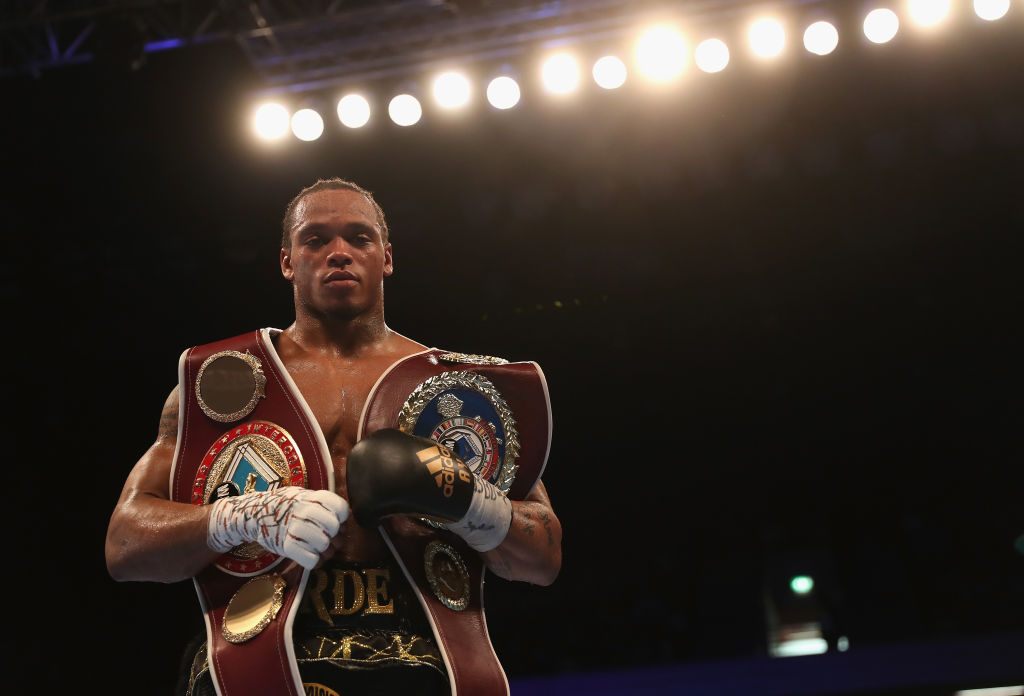 Anthony Yarde with his belts