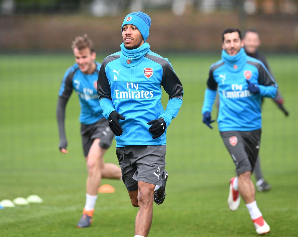 Pierre-Emerick Aubameyang trains with Arsenal team-mates despite suffering with illness