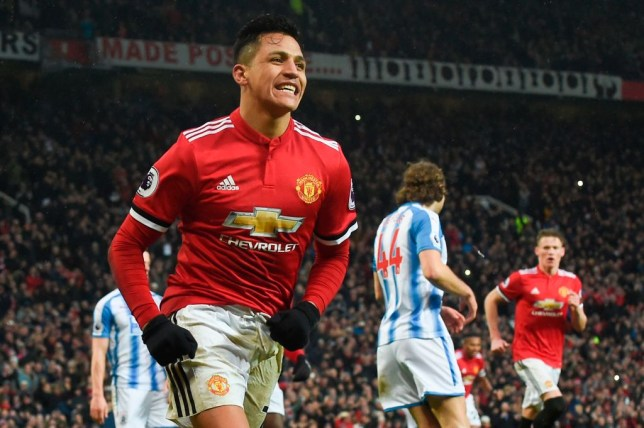 72348a489 Alexis Sanchez scored his first goal for Manchester United in last  weekend s 2-0 win over Huddersfield (Picture  Getty)