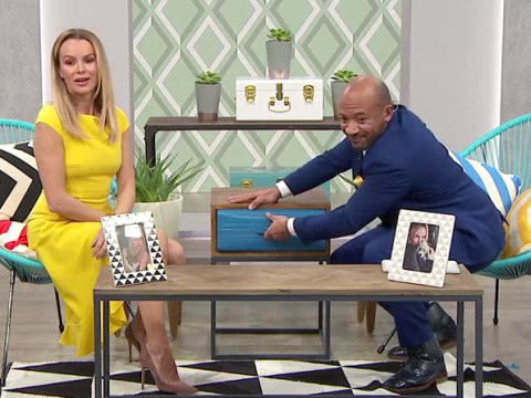 Saturday Night Takeaway: Amanda Holden comes a cropper with a stuck drawer in elaborate prank