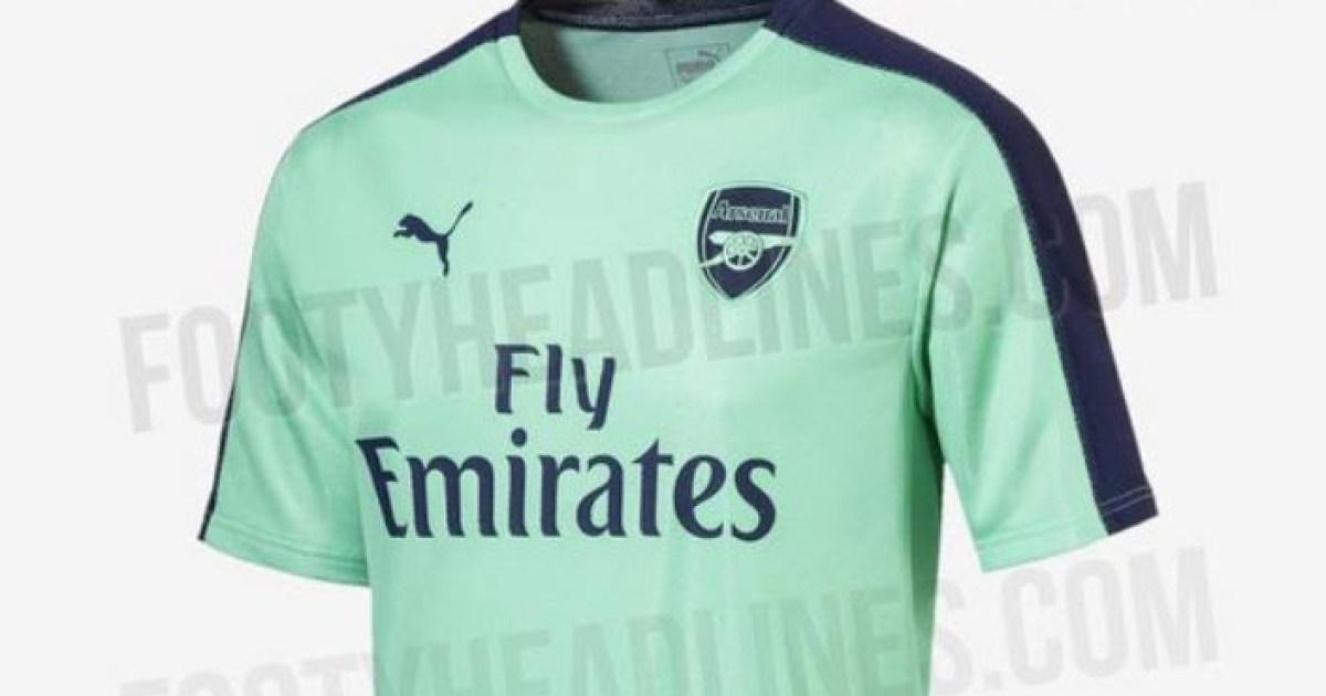 Arsenal s mint green third kit for next season leaked and Gooners aren t  impressed d93daa12f