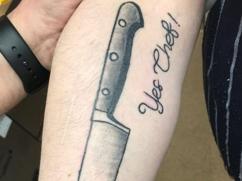 James Martin recommends Tattoo Fixers as a member of his staff gets kitchen knife inking