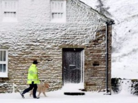 Bitterly cold start to half-term as snow sweeps Britain