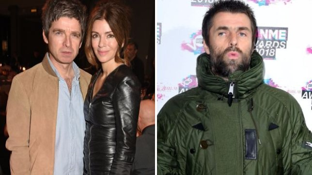 Noel Gallagher, Sara MacDonald and Liam